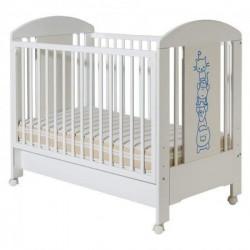 Dečiji krevetac - Lolek drugari belo plavi sa fiokom ( 602 )