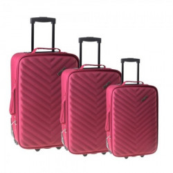 Doha, kofer, set 3 komada, PE, crvena ( 100104 )