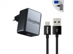 Energizer Max Wall Charger 1USB+MicroUSB Cable Black ( ACA1AEUCMC3 )