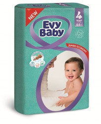 Evy baby pelene jumbo 4 maxi 8-18kg 64 kom ( A004738 )