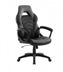 Gejmerska stolica 2326 od eko kože Sivo-Crna