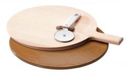 Gorenje AC001 pizza set (kamena podloga, drvena daska, sekač)