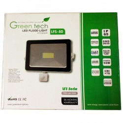 Green Tech LED Reflektor 50W + senzor 6000K 3750LM ( RS50CG/Z )