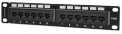 "Intellinet rack patch panel 10"" 1U CAT6 UTP 12 port (720748) ( 064-0121 )"
