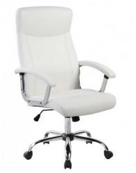 Kancelarijska fotelja 9343H od eko kože - Bela