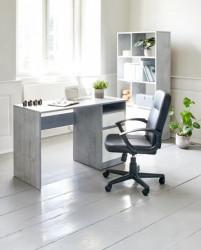 Kancelarijska Radna Fotelja Nimtofte - veštačka koža - Crna