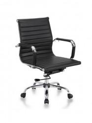 Kancelarijska stolica BOB-R MB L od prave kože - Crna