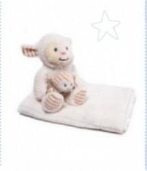 Kikka Boo Gift set Sheep igračka + ćebence Ivory ( 31103020039 )