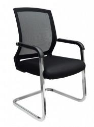 Konferencijska stolica FA-6066 od mesh platna - Crna