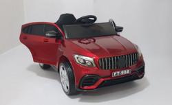 Mercedes 4x4 - Auto na akumulator sa kožnim sedištima i mekim gumama - Crveni