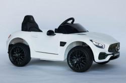 Mercedes AMG GTR Licencirani Auto na akumulator sa kožnim sedištem i mekim gumama - Beli ( AMG GTR )
