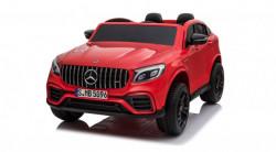 Mercedes Licenciran Dvosed 4x4 model 311/1 sa kožnim sedištima i mekim gumama - Metalik crveni