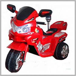 Motor 111 na akumulator sa kožnim sedištem za decu - Crveni