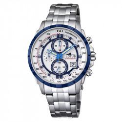 Muški Lotus Chrono Belo Plavi Sportski ručni sat sa brzinometrom