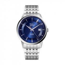 Muški Pierre Ricaud Automatic Index Plavi Srebrni Elegantni Ručni Sat Sa Metalnim Kaišem