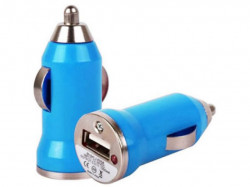 N/A Auto punjač USB 1A E-11 plavi ( 00-004 )