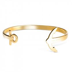 Paul Hewitt Ancuff Zlatna sidro narukvica od hirurškog čelika S