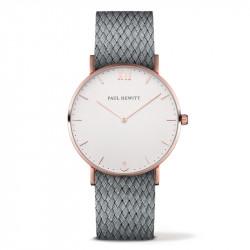 Paul Hewitt Sailor Line Beli Roze Zlatni ručni sat sa sivim perlon kaišem
