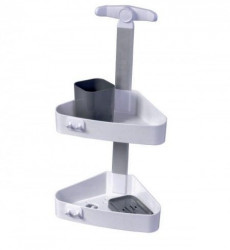 Pelikan Set za tuširanje - plastičan (ugaoni), belo-antracit sivo ( 70110 )