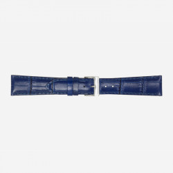 Plavi Poletto Glossy Antiqua Calf Kožni Kaiš Za Sat