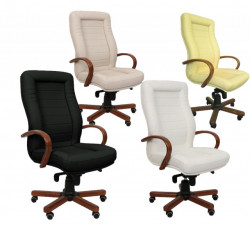 Radna fotelja - 9000 (prava koža) - izbor boje kože