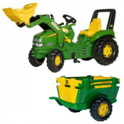 RollyToys Traktor X Track John Deer sa prikolicom farm i utovarivačem ( 049523 )