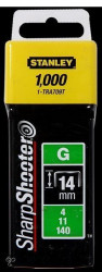 "Stanley 1-TRA709T Klamerice tip ""G"" 14mm 1000kom"