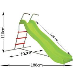Tobogan za decu - zeleni 188x110x102 ( 11/2 )
