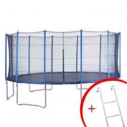 Trambolina + mreža set 487 cm - do 150 kg + merdevine