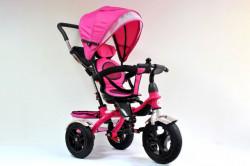 Tricikl Guralica Playtime AM 408 LUX sa rotirajucim sedištem Pink - mekano sedište - gume na naduvavanje