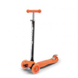 Trotinet za decu jednobojni sa svetlećim točkićima - Model 655 - Narandžast