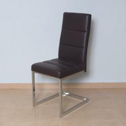 Trpezarijska stolica B2191 Noge hrom /Crna 430x560x1025 mm ( 775-072 )
