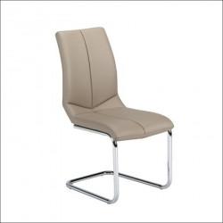 Trpezarijska stolica X-1229 Noge hrom/ Cappuccino 430x600x960 mm ( 779-017 )