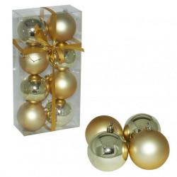 Ukrasne kuglice 7cm 8kom zlatne ( 51-312000 )