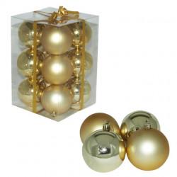 Ukrasne kuglice 8cm 12kom zlatne ( 51-402000 )