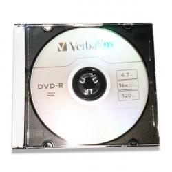 Verbatim 43808 DVD-R 4.7GB 16X slim case bez kartončića ( 5516SX/Z )