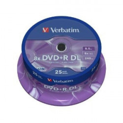 Verbatim DOUBLE LAYER 8.5GB DVD+R DL 8X 43757