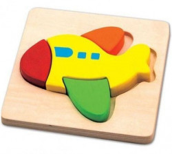 Viga Drvena puzzla 4 dela - avion ( 0125026 )