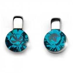 Ženske Oliver Weber Beat Blue Zircon mindjuše sa swarovski plavim kristalom