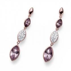 Ženske Oliver Weber Concept Violet Roze Zlatne Mindjuše Sa Ljubičastim Swarovski Kristalima