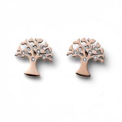 Ženske Oliver Weber Flourish Crystal Roze Zlatne Mindjuše Sa Belim Swarovski Kristalima