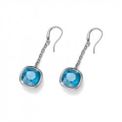 Ženske Oliver Weber Ohrhanger Royalty Blue Mindjuše Sa Swarovski Plavim Kristalom