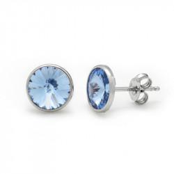 Ženske Victoria Cruz Basic M Light Sapphire Mindjuše Sa Swarovski Svetlo Plavim Kristalom