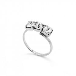 Ženski Victoria Cruz Celine Tree Minis Crystal Prsten Sa Swarovski Belim Kristalom