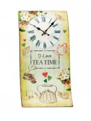 Zidni sat Talas I Love Teatime 40x21cm ( 35845_4 )