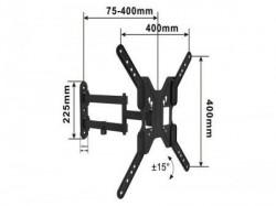 """Alpha Nosač za TV TILT Long arm 17""""-55"""" VESA 400X400 do 30kg ( ALPHA 17-55 LONG ARM )"""