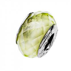 Amore Baci Crystals Zeleni Srebrni Privezak Sa Swarovski Kristalom Za Narukvicu