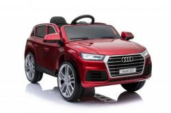 Audi Q5 2019 Licencirani auto na akumulator sa kožnim sedištem i mekim gumama - Crveni