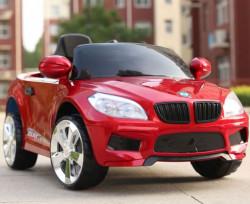 Auto na akumulator model 243-1 Metalik crveni sa daljinskim upravljanjem i kožnim sedištem