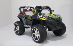 BAGI 4x4 model 119A - Dečiji Auto na akumulator sa kožnim sedištem i mekim gumama - funkcija ljuljanja - Zeleni